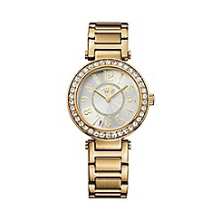 Juicy Couture - Ladies gold crystal stones bracelet watch