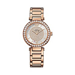 Juicy Couture - Ladies rose gold crystal stones bracelet watch