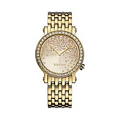 Juicy Couture - Ladies gold crystal dial bracelet watch