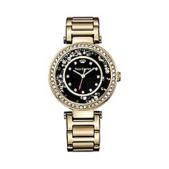 Juicy Couture - Ladies gold black dial bracelet watch