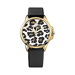Juicy Couture - Ladies black leopard print dial strap watch