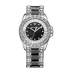 Juicy Couture - Ladies two tone black dial bracelet watch