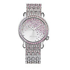 Juicy Couture - Ladies silver crystal dial bracelet watch