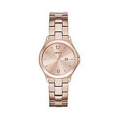 DKNY - Ladies rose gold 'parsons' bracelet watch