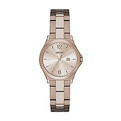 DKNY - Ladies beige gold 'parsons' bracelet watch