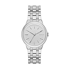 DKNY - Ladies silver 'park slope' analogue watch