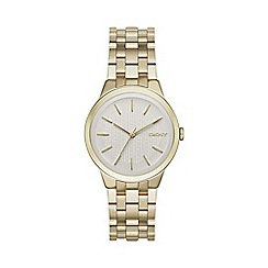DKNY - Ladies gold 'park slope' analogue watch