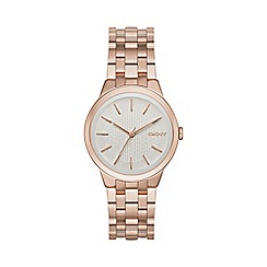 DKNY - Ladies rose gold 'park slope' analogue watch