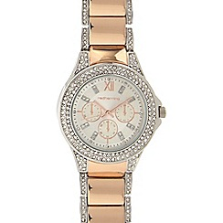 Red Herring - Ladies crystal analogue bracelet watch