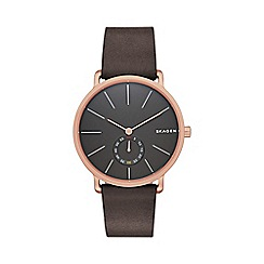 Skagen - Gents brown 'Hagen' watch