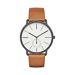 Skagen - Gents tan 'Hagen' watch
