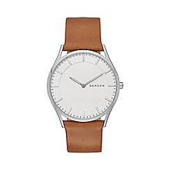 Skagen - Gents tan 'Holst' watch