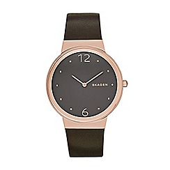 Skagen - Ladies dark brown 'Freja' watch