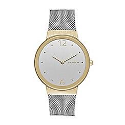 Skagen - Ladies silver 'Freja' watch