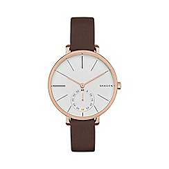 Skagen - Ladies brown slim 'Hagen' watch skw2356