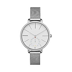 Skagen - Ladies silver slim 'Hagen' watch