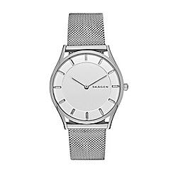 Skagen - Ladies silver slim 'Holst' watch