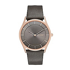 Skagen - Ladies grey slim 'Holst' watch