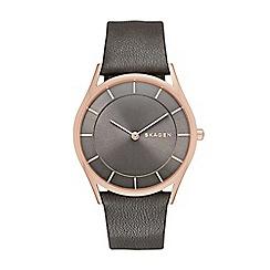 Skagen - Ladies grey slim 'Holst' watch