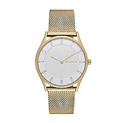 Skagen - Ladies gold slim 'Holst' watch