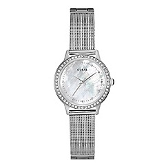 Guess - Ladies silver mesh bracelet watch