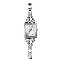 Guess - Ladies silver watch with crystals