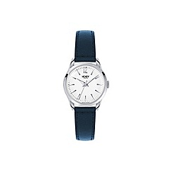 Henry London - Ladies blue 'Knightsbridge' leather strap watch