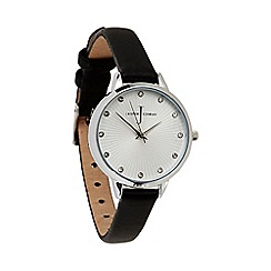 J by Jasper Conran - Ladies' black fan textured watch