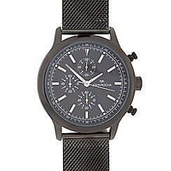 RJR.John Rocha - Men's black stainless steel analogue watch