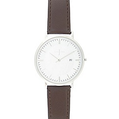 J by Jasper Conran - Men's brown leather strap watch