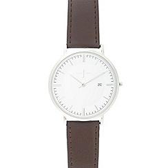 J by Jasper Conran - Men's brown leather strap watch
