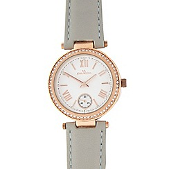 RJR.John Rocha - Pale grey leather analogue watch