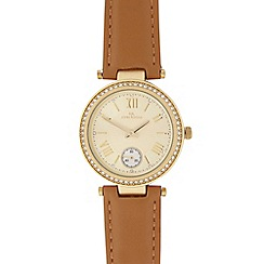 RJR.John Rocha - Ladies gold stone bezel watch
