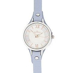 RJR.John Rocha - Pale blue leather analogue watch
