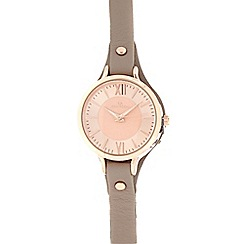 RJR.John Rocha - Taupe leather analogue watch