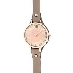 RJR.John Rocha - Taupe leather analogue watch