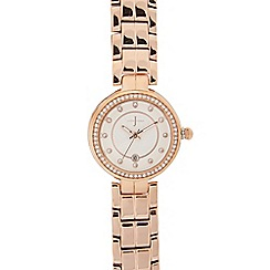 J by Jasper Conran - Rose gold plated bracelet analogue watch