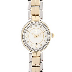 J by Jasper Conran - Gold plated bracelet analogue watch