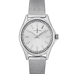 J by Jasper Conran - Ladies silver plated mesh analogue watch