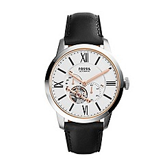 Fossil - Gents black chronograph strap watch
