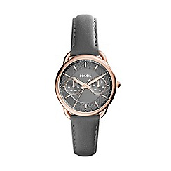 Fossil - Ladies grey chronograph strap watch
