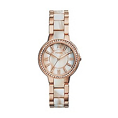 Fossil - Ladies rose gold bracelet watch es3716