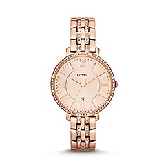 Fossil - Ladies rose gold bracelet watch es3546