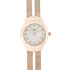 Infinite - Ladies rose mesh split strap multi dial watch