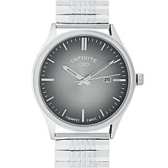Infinite - Men's silver plated bracelet analogue watch