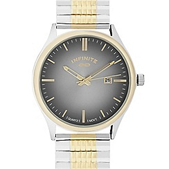 Infinite - Men's gold plated bracelet analogue watch