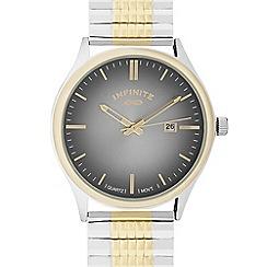 Infinite - Men's gold plated bracelet analogue watch