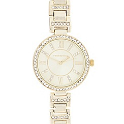 Red Herring - Ladies' gold diamante watch
