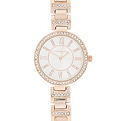 Red Herring - Ladies' rose gold diamante watch
