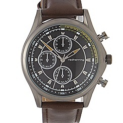 Red Herring - Mens brown chronograph watch